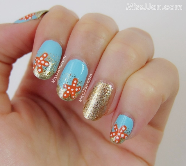 MissJJan's Beauty Blog ♥: Starfish in the Golden Sand Nail ...
