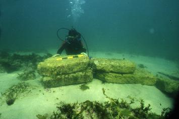 rare lord krishna dwarka findings under sea