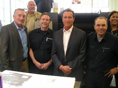 Arnold Schwarzenegger at print shop super shop 9 2012