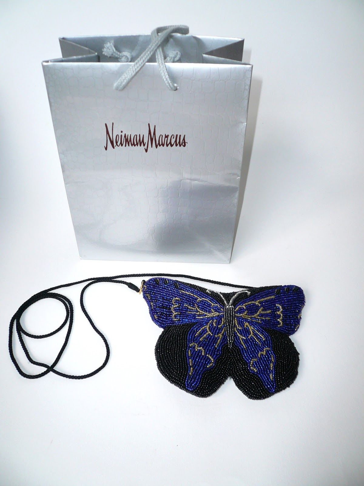 Valentine S Vintage Beaded Butterfly Evening Bag Purse