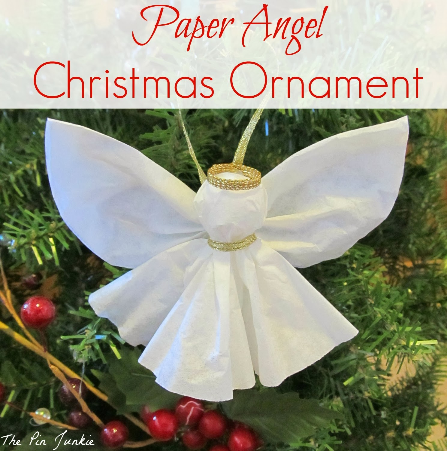 Christmas Crafts Paper Angels : Angel ornament