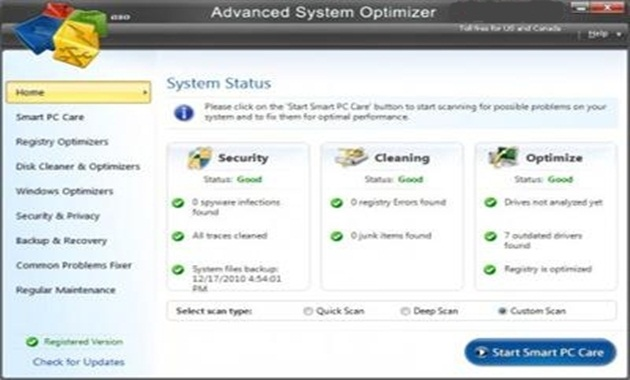 Advanced System Optimizer 3.5.1000.14975 application of advanced system opt