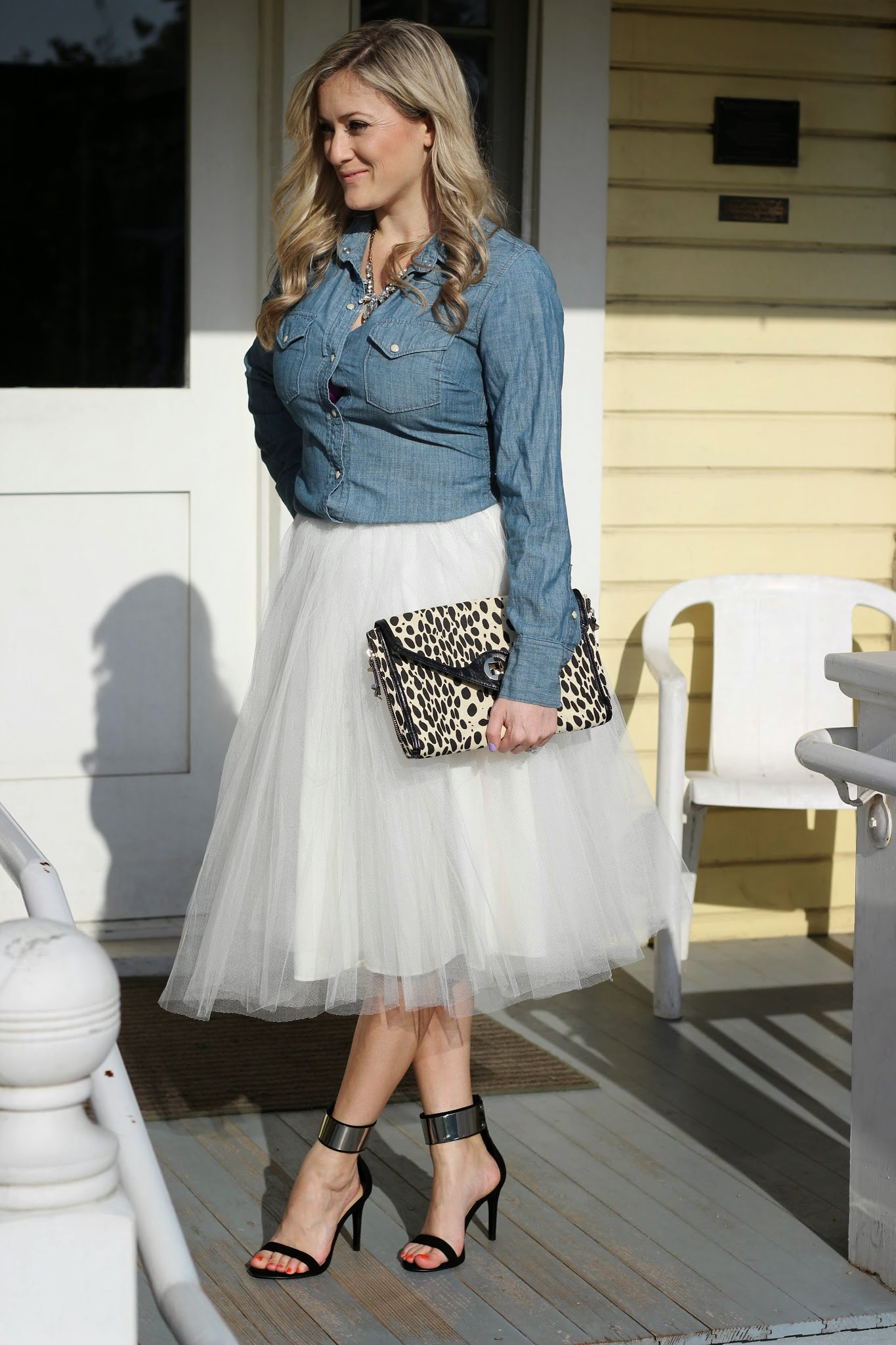 The Girl that loves, Tulle skirt, zara heel, shinymix, sole society, hot iron holster