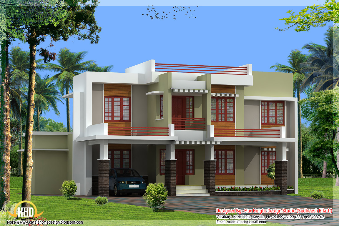 3 beautiful kerala home elevations for Home designs in kerala