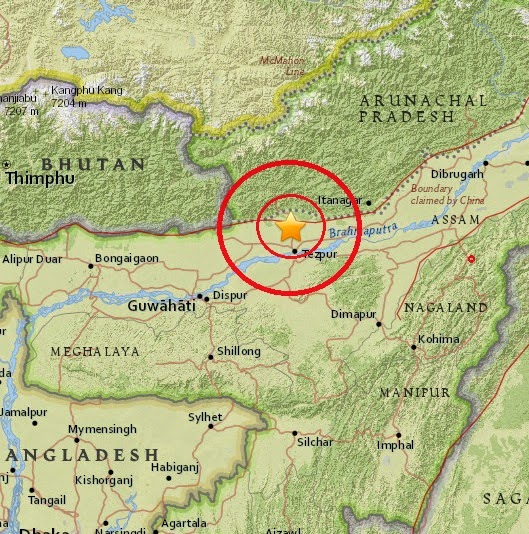 Magnitude 4.9 Earthquake of Rangapara, India 2015-04-16