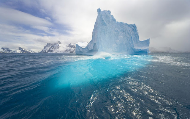 Blue Floating Iceberg