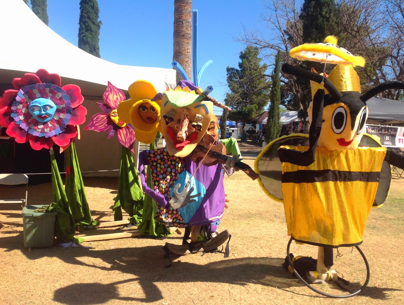 Flower and Bee puppets