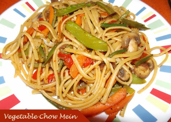 Vegetable Chow Mein Recipe / Chinese Noodles - Desi Mejwani
