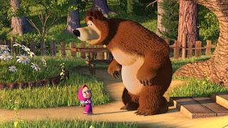 Gambar Animasi Masha and The Bear Lucu Animation Gif Wallpaper