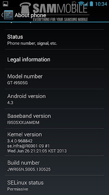 Samsung Galaxy S4 GT-I9505 Android 4.3 ROM