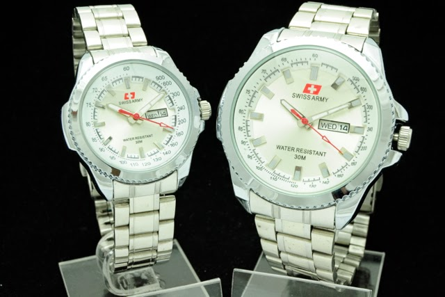 Jam Tangan Swiss Army Couple Super KW Murah Putih