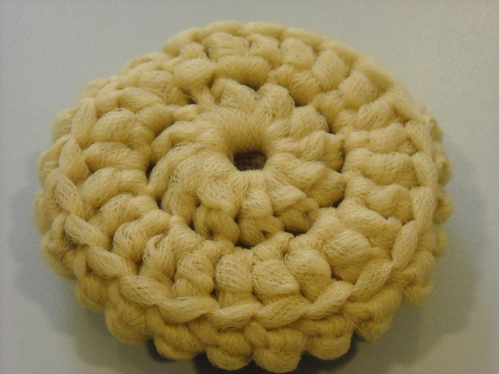Crocheting Scrubbies With Netting : Nadines Patterns: Tulle Dish Scrubbers- Crochet