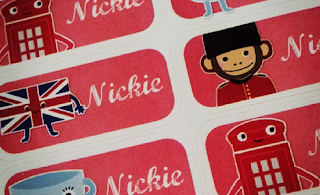 London Themed Name Stickers