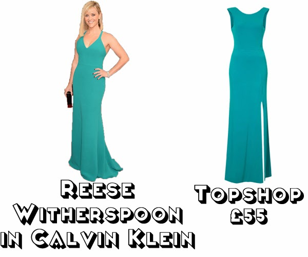 Steal Her style golden globes 2014  get the look red carpet fashion reese witherspoon calvin klein topshop