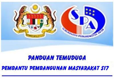 Panduan Temuduga Pembantu Pembangunan Masyarakat S17