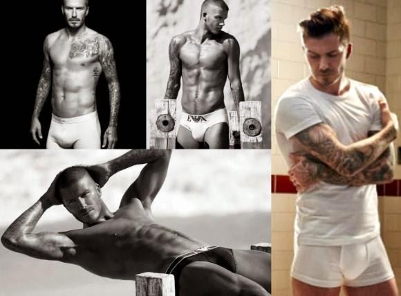 David Beckham naked