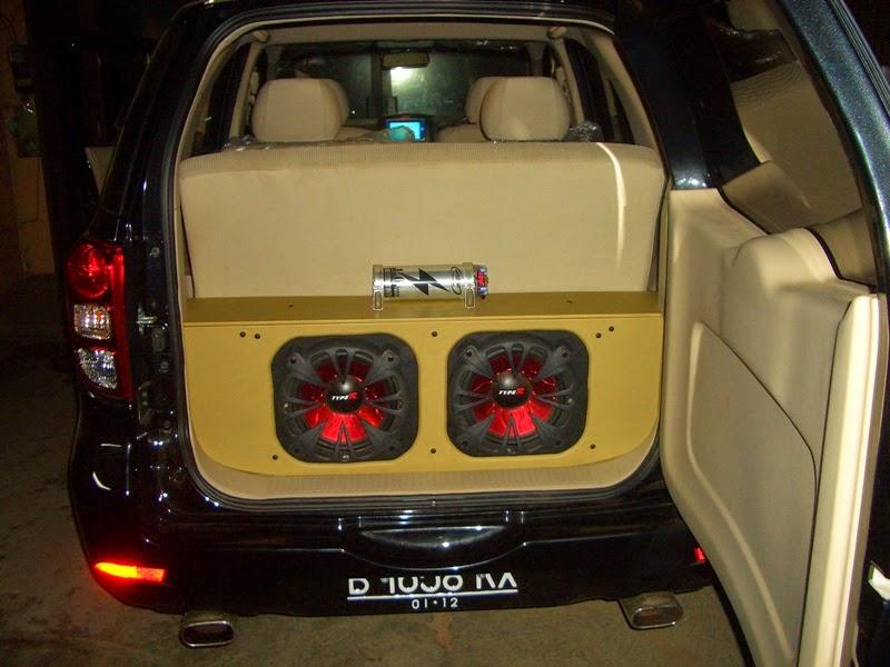 modifikasi audio mobil terios