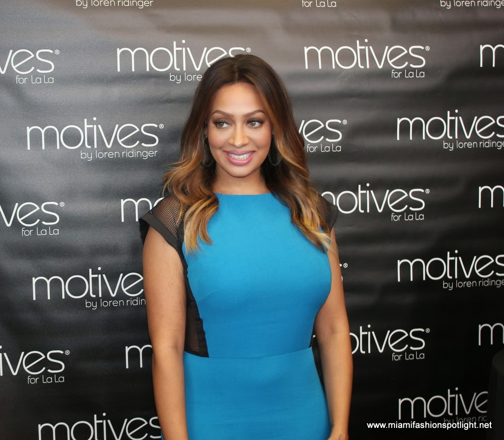 La La Anthony at the press conference at the World Conference.