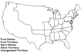 Mr Munfords History Blog Sectionalism Map - Blank us map 1820