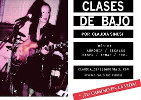CLASES DE BAJO BY CLAUDIA SINESI