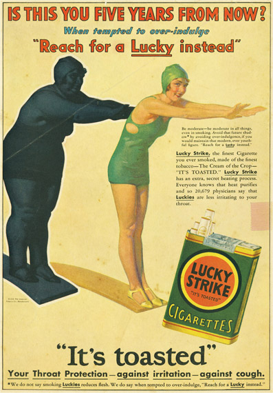 Cigarette Ads 2012 Two vintage cigarette ads