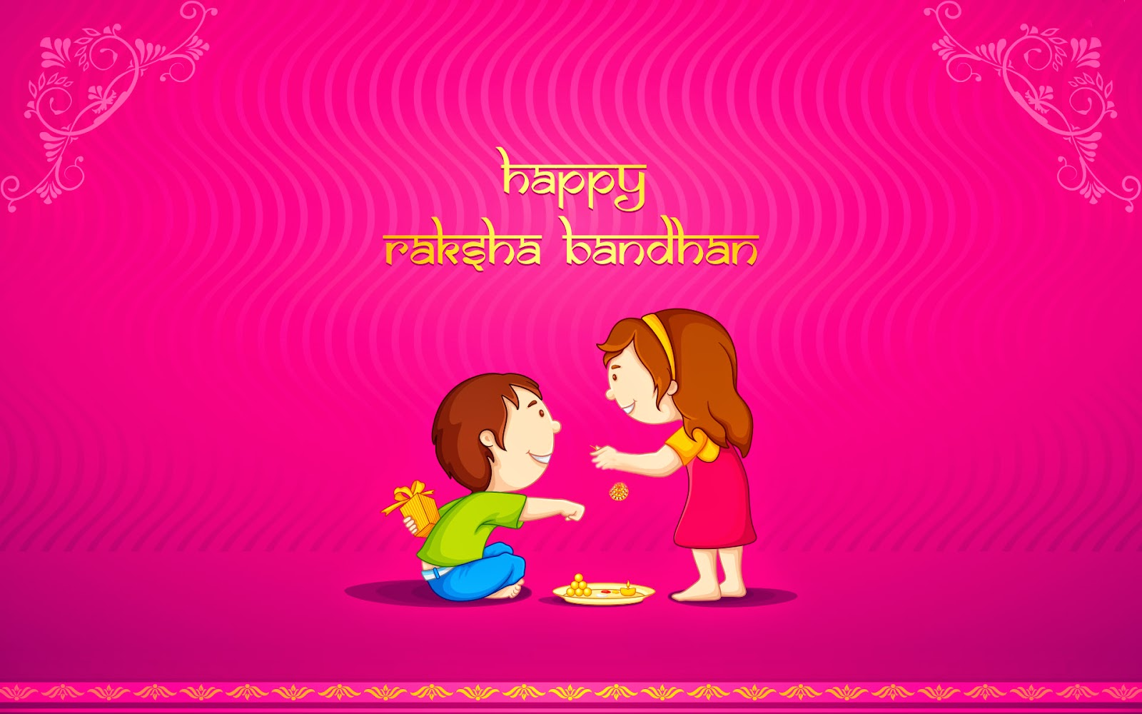 Happy raksha bandhan celebration wallpaper