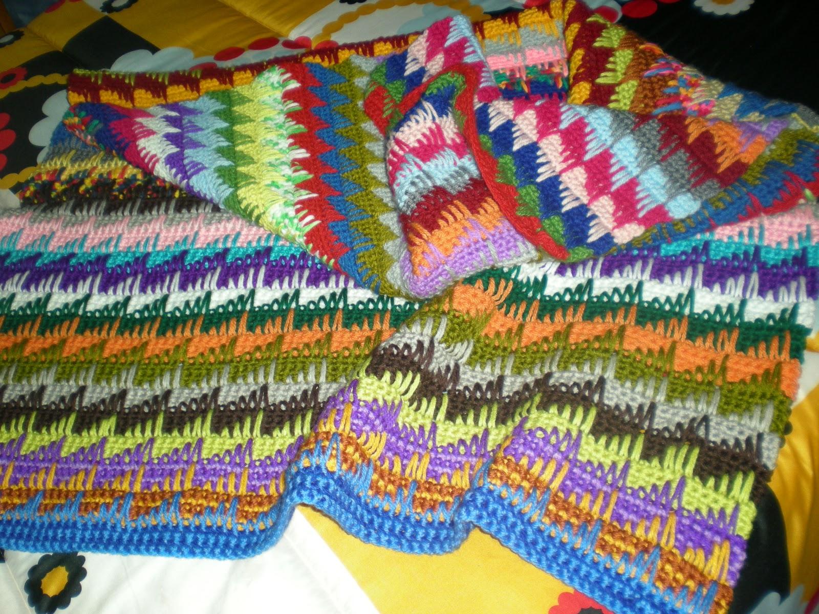 Amigurumis crochet y otras cosillas juani otra manta - Mantas para el sofa ...