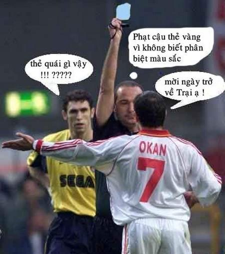 Hình ảnh hài hước trong bóng đá