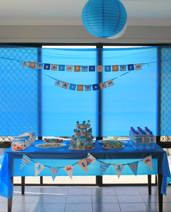 Under the Sea Party dessert table. Party printables by Love That Party. www.lovethatparty.com.au