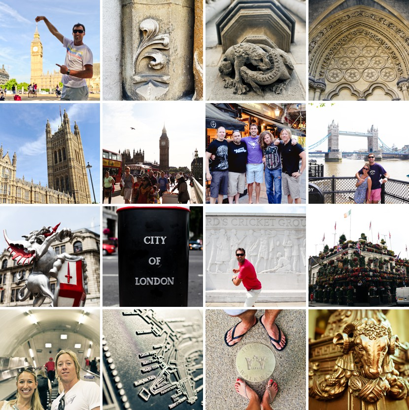collage of london photo