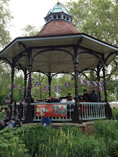 Myatts Fields Park bandstand in Vassall Ward