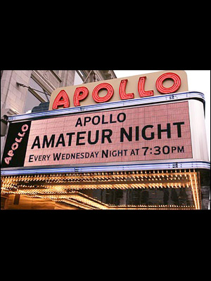 ALL FIVE OF OUR GROUPS MADE APOLLO AMATEUR NIGHT FOR ALL 5 WEEKS IN JUNE.