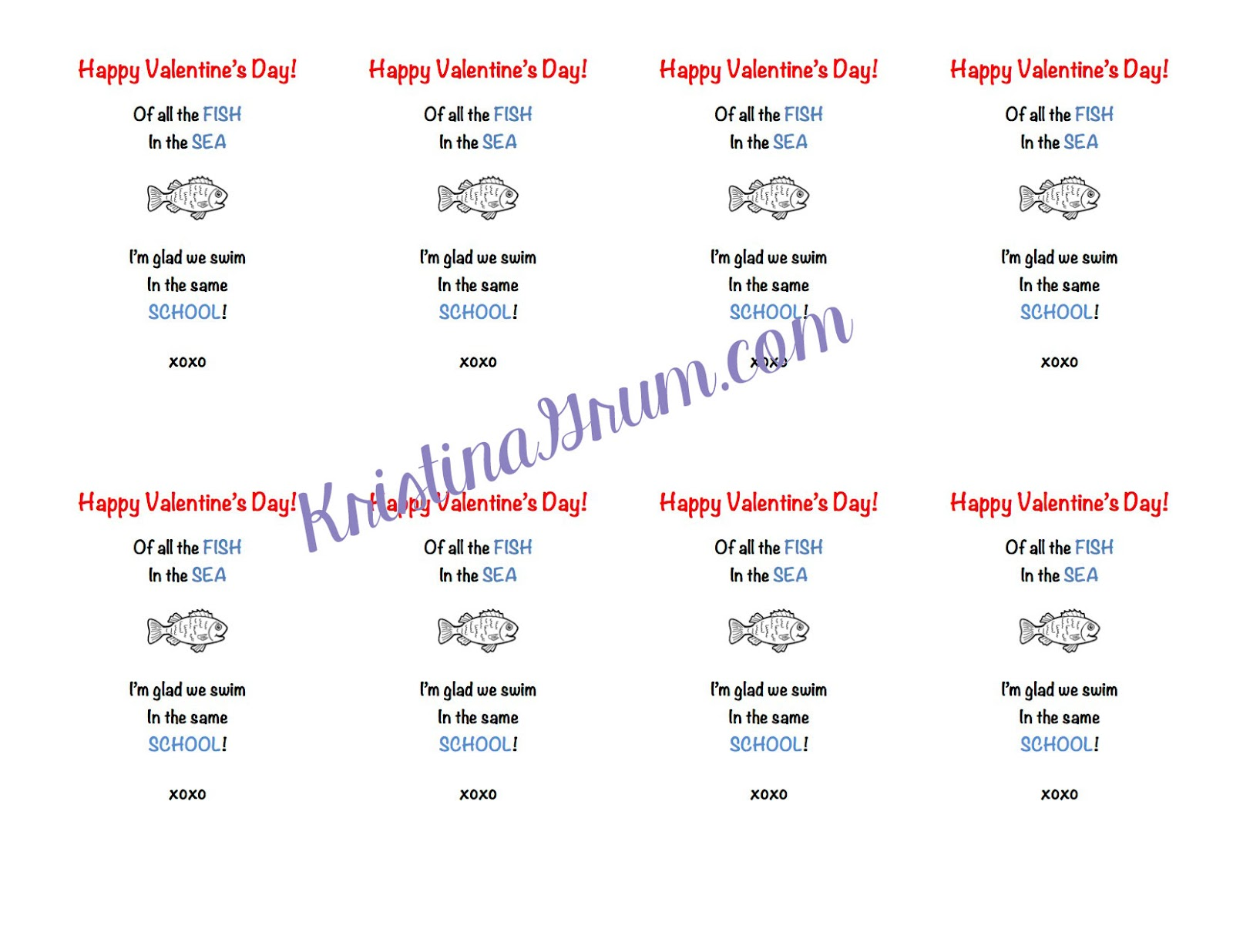 printable fish valentines thriving parents