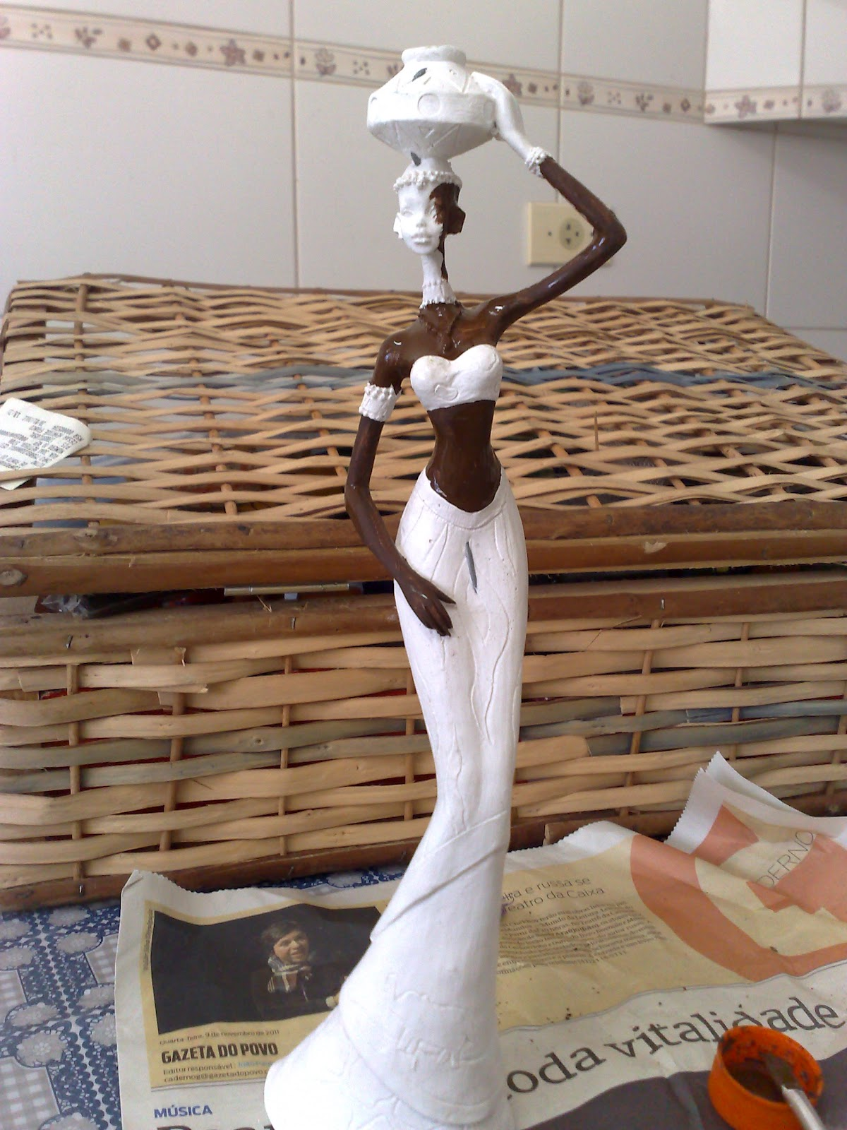 Artesanatos da Meri: Africana em gesso #66412C 1200 1600