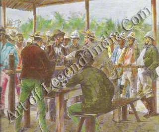 The French scheme for building a canal through the Isthmus of Panama collapsed in 1889. It was underfinanced and mismanaged from the start, and the work force was decimated by yellow fever. The isthmus became a centre of gambling, brothel keeping and coffin making. The US Government took up the project in 1904, but used only one-third of the French excavations. They finally completed the canal in 1914.