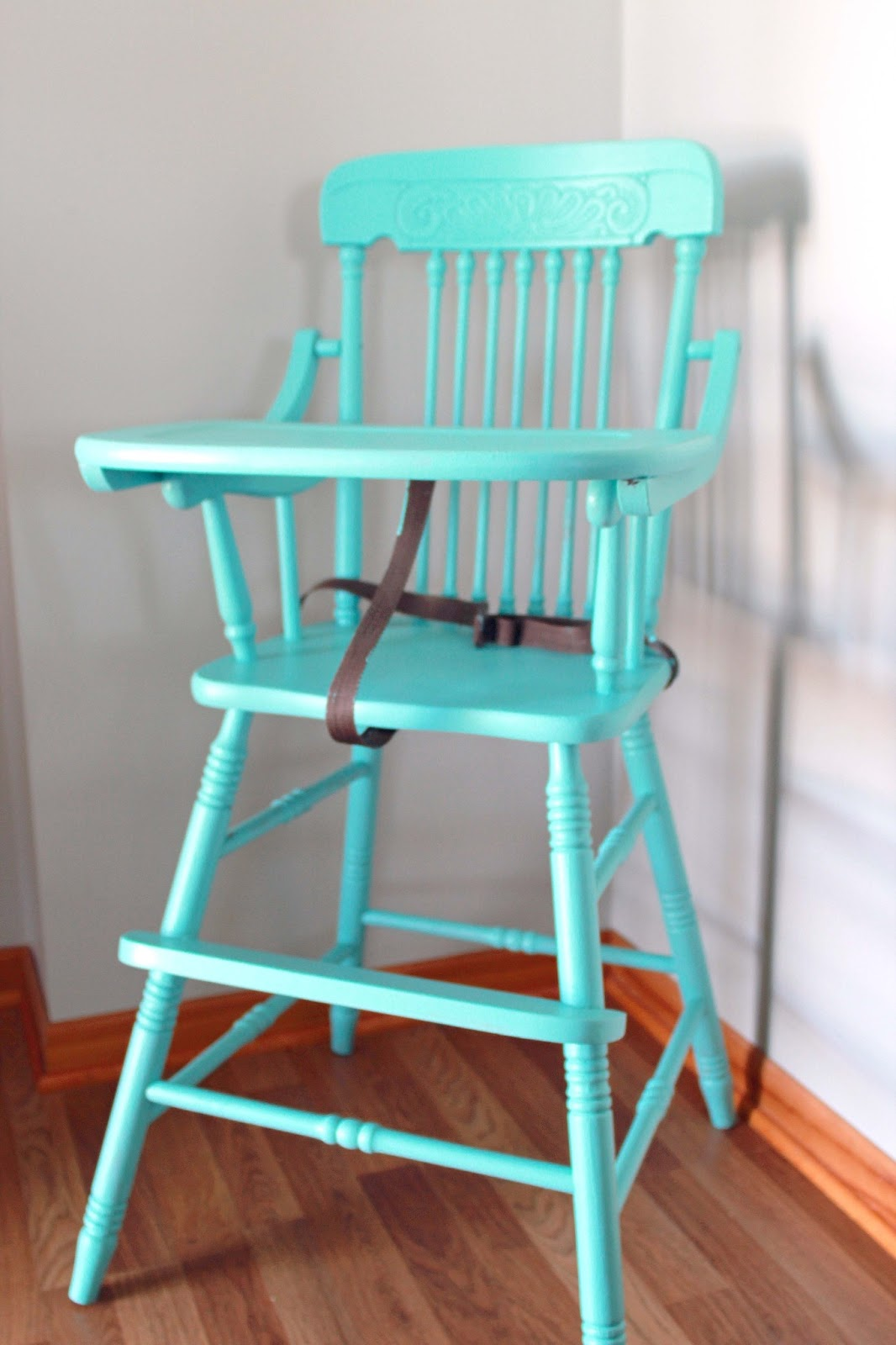Painted wooden high chairs - High Chair With A Coat Of Paint