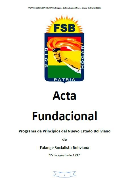 Acta Fundacional FSB