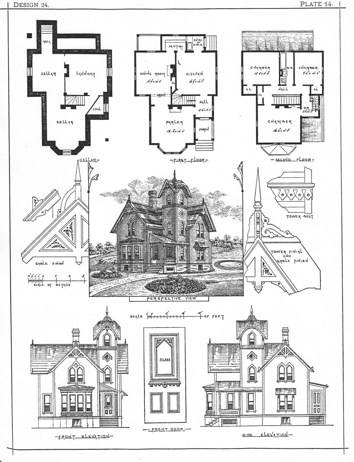 The gallery for victorian house plans with secret for Eastlake house plan