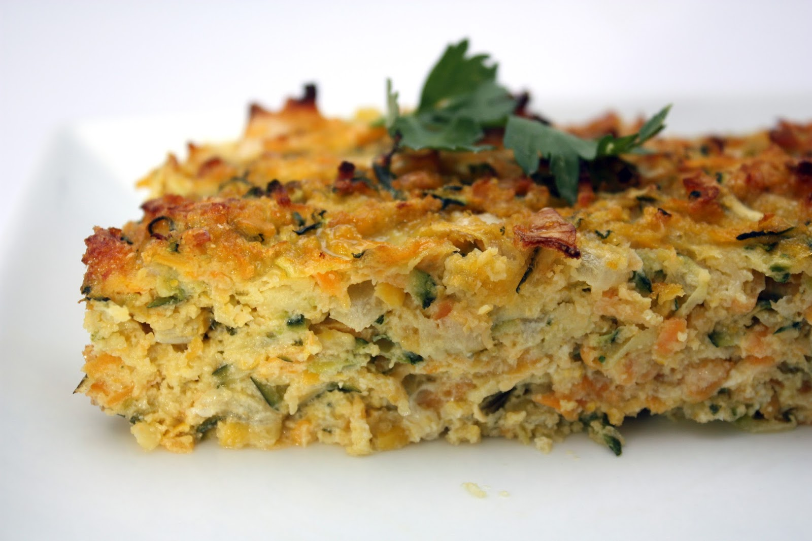 meg-made: Zucchini, sweet potato and polenta slice