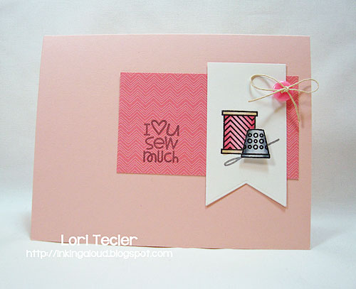 Sew Much-designed by Lori Tecler-Inking Aloud-stamps from Paper Smooches