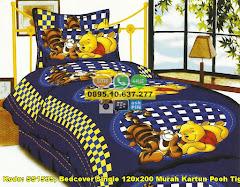 Harga Bedcover Single 120×200 Murah Kartun Pooh Tigger Jual