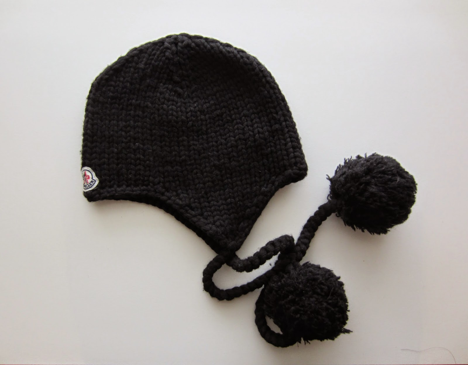 Moncler Black Wool Hat