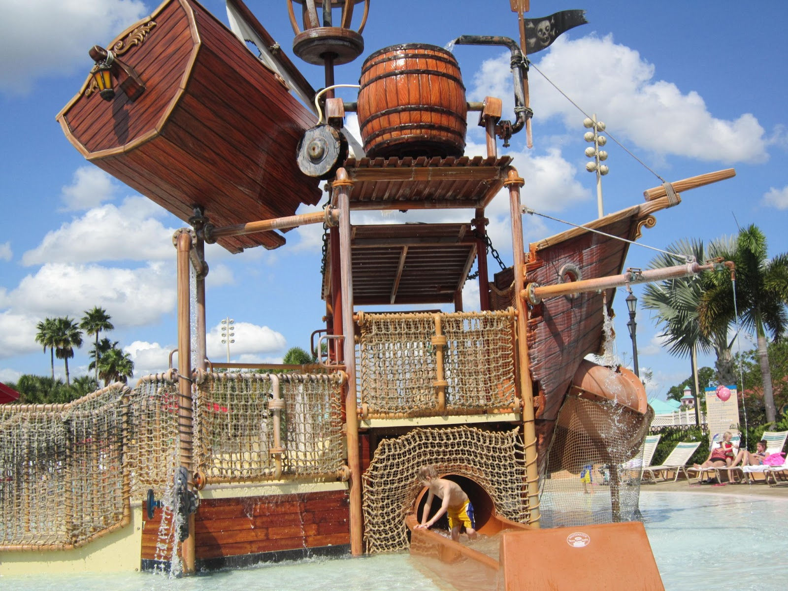 splash pad, pool, pirate ship, Walt Disney World