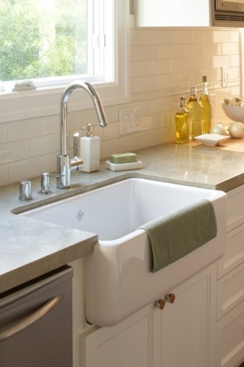 Over Counter Farmhouse Sink : So hoping for a farmhouse sink...it has been the *only* thing my ...