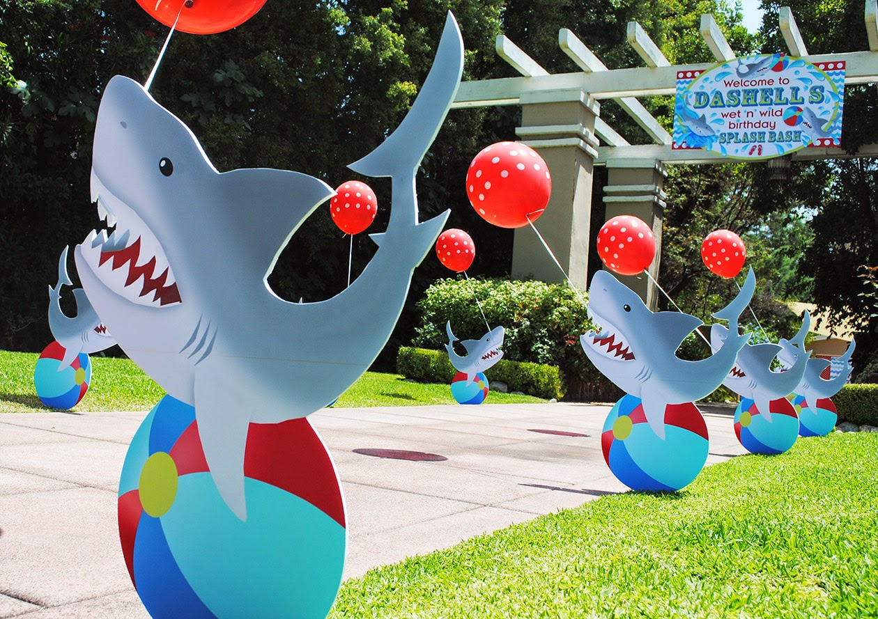Shark Pool Party Ideas endless summer surf party by lynlees a bellenza featured party Wet N Wild Shark Pool Party