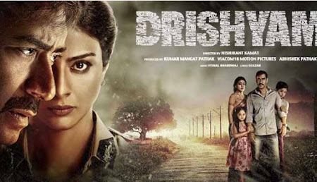 Poster Of Bollywood Movie Drishyam (2015) 150MB Compressed Small Size Mobile Movie Free Download