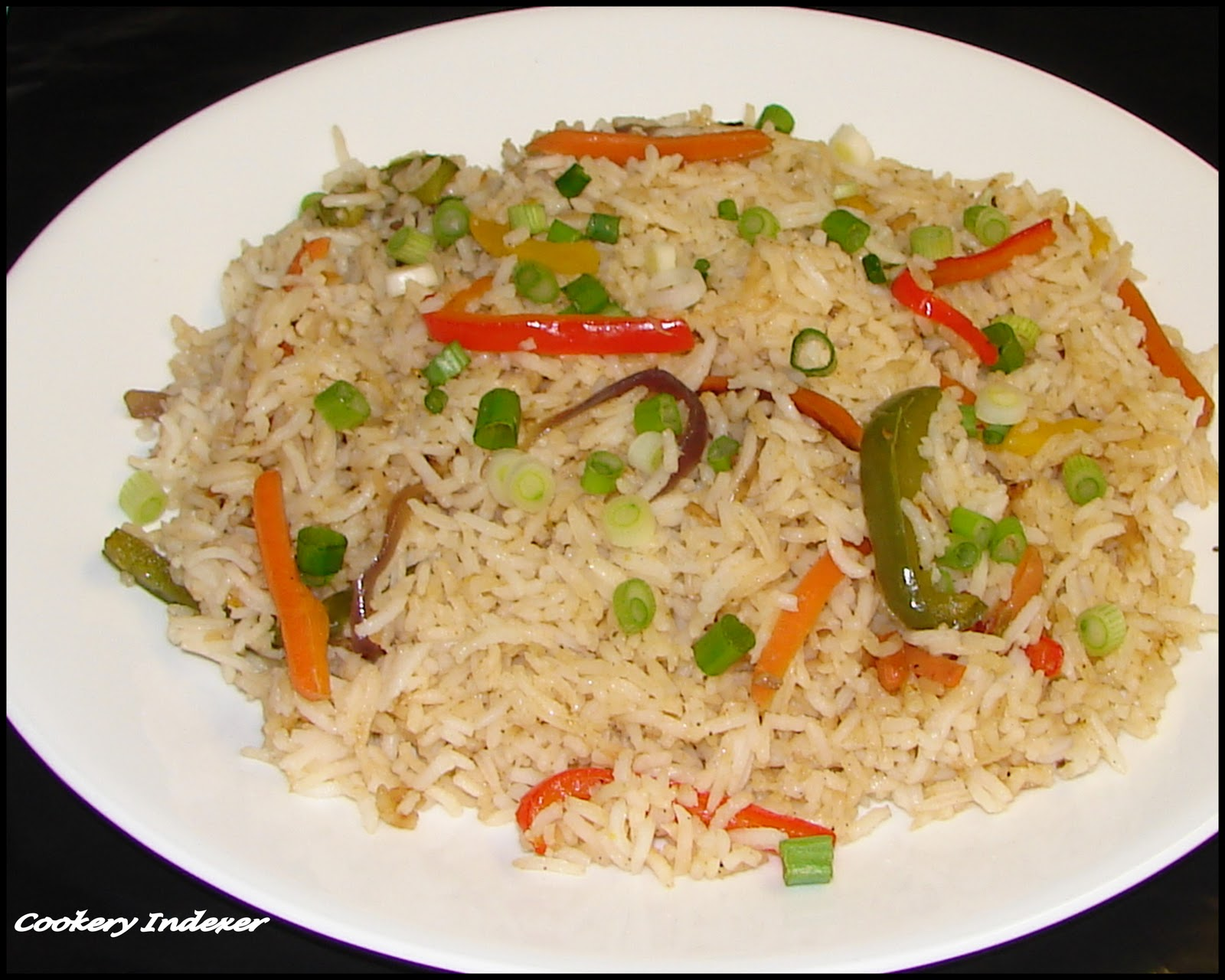 ... Indian Cuisine Blogroll !: Vegetable Fried Rice (Indo-Chinese Style
