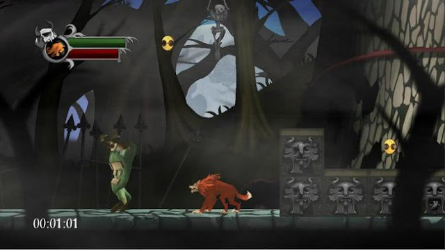 Screenshot of video game Blood of the Werewolf, which is coming to the Wii U eShop in June