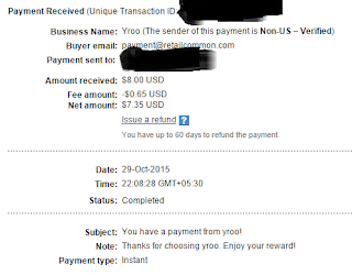 Yroo Latest Payment Proof