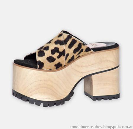 Sandalias animal print y plataformas primavera verano 2015 Hoku Shoes.